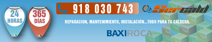 Reparacion de calderas BaxiRoca en Rivas Vaciamadrid