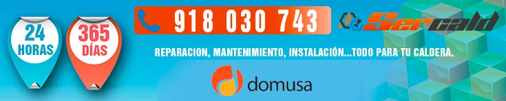 Reparacion de calderas Domusa en Madrid