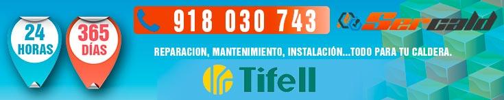 Reparacion de calderas Tifell en Madrid.