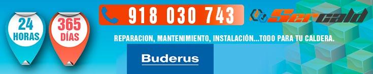 Reparación de calderas Buderus en Madrid.