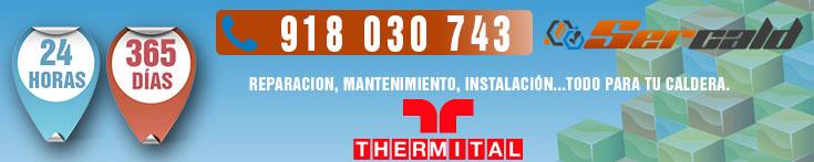 Reparación de calderas Thermital en Madrid.