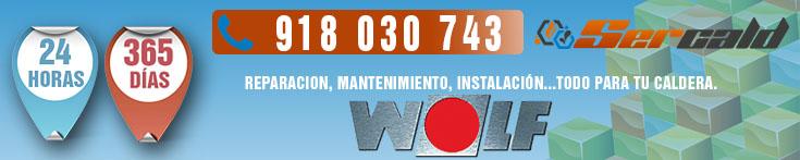 Reparación de calderas Wolf en Madrid.