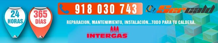 Reparación de calderas Intergas en Madrid