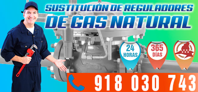 Sustitución Regulador Gas Natural en Madrid